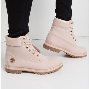 New Premium Waterproof Women Pink Timberland Boots